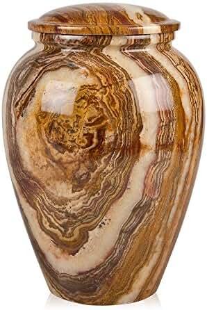 Perfect Memorials Medium Tiger Eye Marble Grecian Cremation Urn