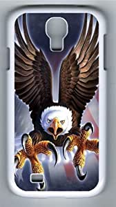 Fierce Eagle Custom Samsung Galaxy I9500/Samsung Galaxy S4 Case Cover Polycarbonate White by lolosakes