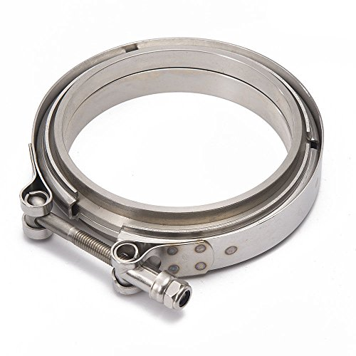 EPMAN TK-VKG45 Racing Car T304 Stainless Steel V Band Clamp Flange Assembly For Exhaust Turbo Wastegate 4.5