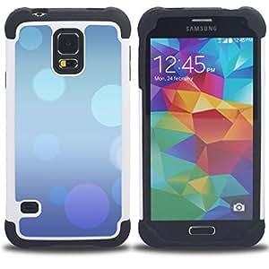 """Hypernova Híbrido Heavy Duty armadura cubierta silicona prueba golpes Funda caso resistente Para SAMSUNG Galaxy S5 V / i9600 / SM-G900 [Extracto púrpura azul Burbujas en colores pastel""""]"""