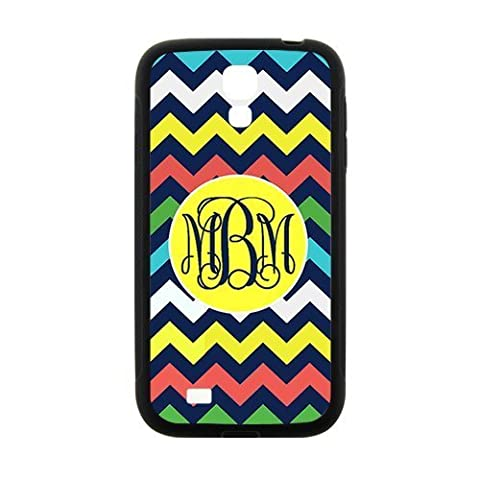 iFUOFF Amazing Rainbow Colorful Zigzag Chevron Geometric Seamless Patterns VS Bright Yellow Monograms Customized Protective Snap On Fashion Case for Samsung I9295 GALAXY S4 Active (Black or White 2 (Lion King Htc One M7 Case)