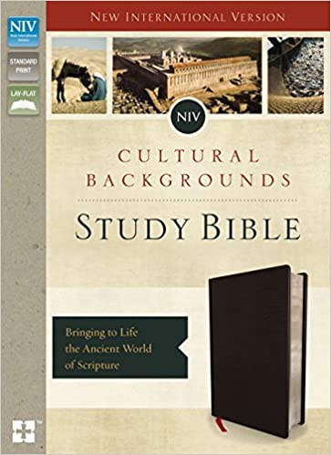 niv cultural backgrounds study bible bonded leather black red letter edition bringing to life the ancient world of scripture zondervan