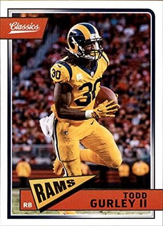 2018 Classics Football  90 Todd Gurley II Los Angeles Rams Panini NFL Card 4bf6ff4df
