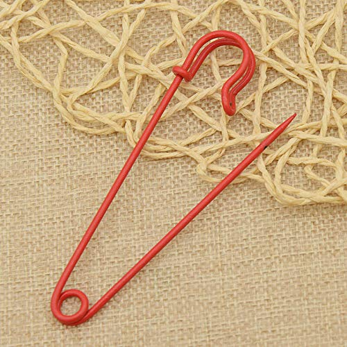 6pcs Extra-Large Metal Safety Pins DIY Craft Garment Accessories Brooch Pins