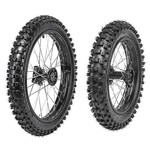 WPHMOTO Front 70/100-17 + Rear 90/100-14 Wheels Tires For Dirt Pit Bikes (Bike Pit Dirt)