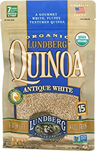 Lundberg Family Farms Organic Quinoa, Antique White, 16 Ounce