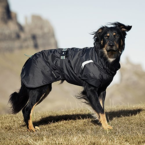 Image of Hurtta Summit Parka Dog Winter Coat, Raven, 18 in