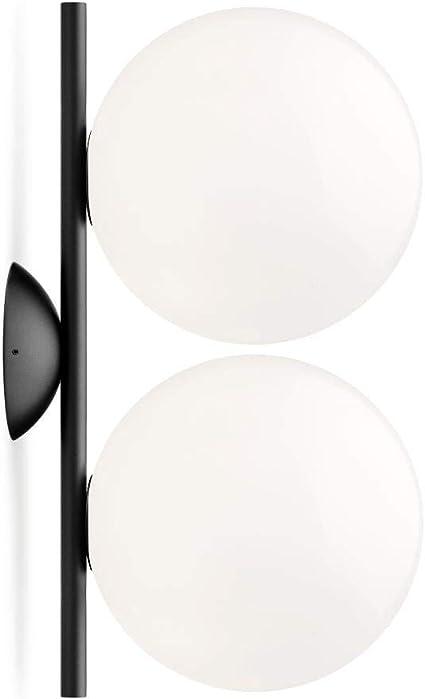 Flos Lámpara IC C/W1 Double Negro, F3157030, 42 x 24,5 cm ...