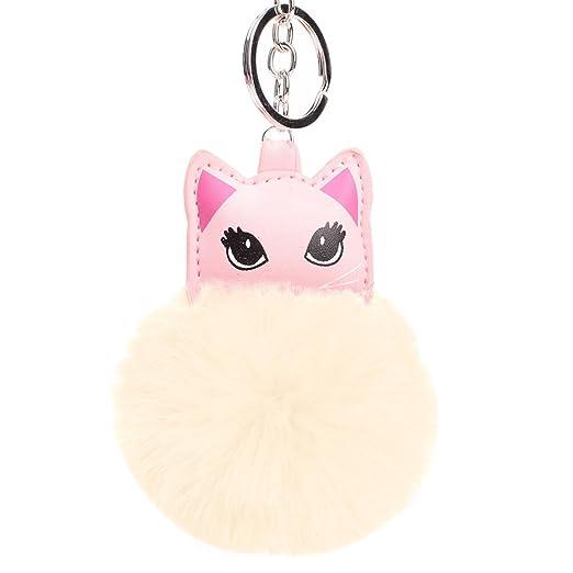 cuiyoush - Llavero con pompón, diseño de Gato, para Mujer ...