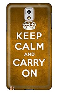 CaseandHome Keep Calm And Carry On PC Material Hard Case For Samsung Galaxy Note 3