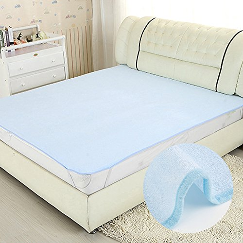 39 X 79 inch Reusable Incontinence Bed Pads Extra Large Underpads 8 Cups Absorbency, Waterproof Washable Non-Slip Mattress Protector Sheet for Adults, Kids, Pets, Baby Wipes