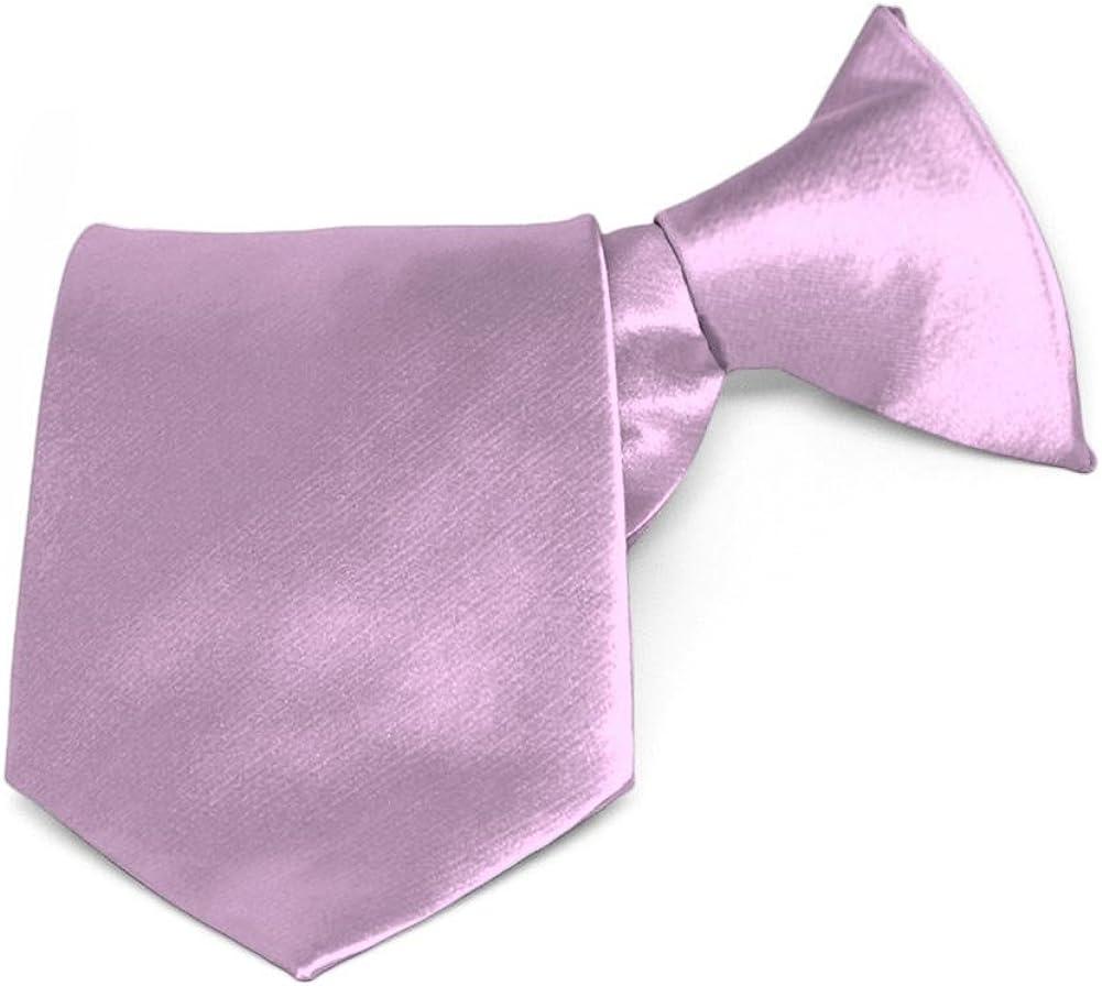 TieMart Boys English Lavender Solid Color Necktie