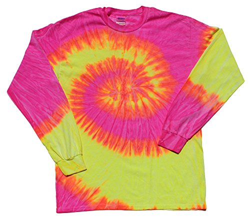 pink and yellow tie dye - 1