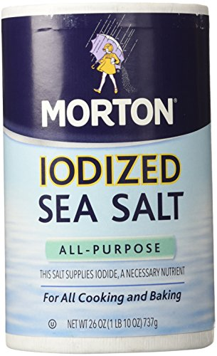 Iodized Salt - Morton Salt Iodized Sea Salt - 26 oz