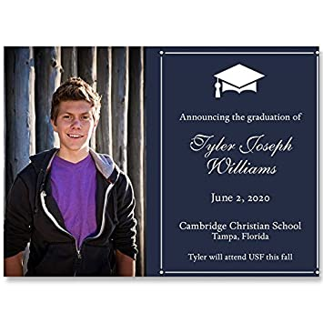 Amazon graduation invitations navy blue regal traditional graduation invitations navy blue regal traditional open house commencement filmwisefo