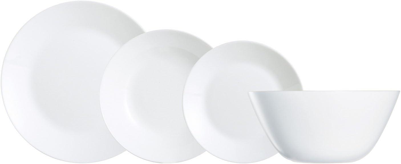 Vajilla de Vidrio, Blanco, 16.02 cm, 19 Unidades