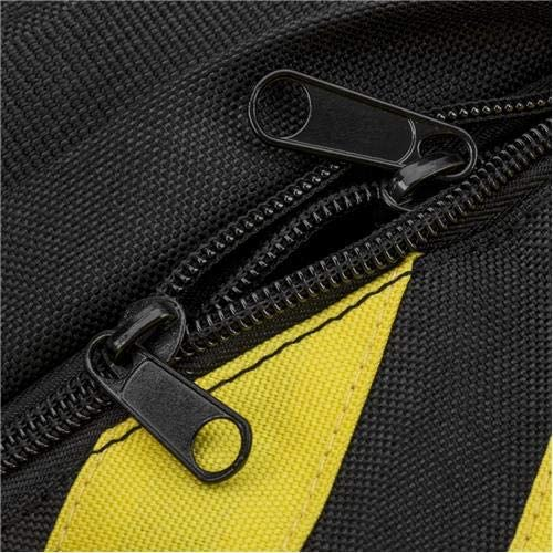 Flashpoint Empty Saddle Sandbag Water-Resistant Cordura Nylon 27 lb Capacity, Yellow /& Black Stripes