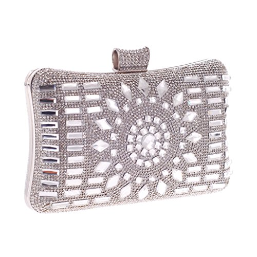 fugenzhang pour Taille M Pochette femme Silver r5Yx8wrZqn