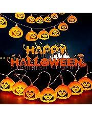 Eastor lichtsnoer, oranje Halloween lichtsnoer, pompoen verlichting voor Halloween decoratie accessoires, lantaarnverlichting voor patio outdoor party