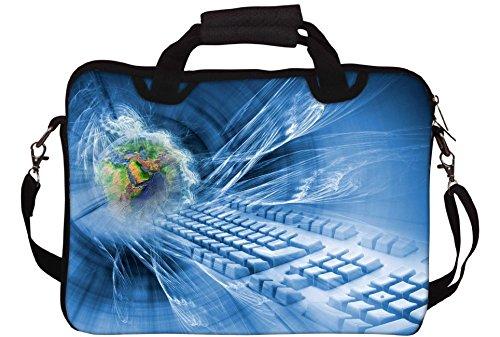Snoogg abstrakt hintergrund internet Gedruckt Notebook-Tasche mit Schultergurt 15 bis 15,6 Zoll