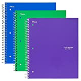 Five Star Spiral Notebooks 3-Subject College Ruled 150-Sheet 3-Pack Deal
