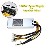Whitelotous 1800W 180-264V 15A Platinum Antminer Mining Power Supply for Antminer Miner
