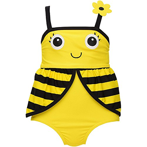 Candlesticks Infant Girl Bumble Bee 1-Piece Swimsuit (9M)