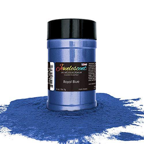 U.S. Art Supply Jewelescent Royal Blue Mica Pearl Powder Pigment, 2 oz (57g) Shaker Bottle - Cosmetic Grade, Non-Toxic Metallic Color Dye - Paint, Epoxy, Resin, Soap, Slime Making, Makeup, Art