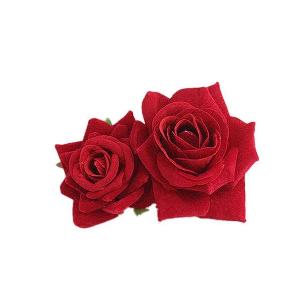 Bandeau Fleur Serre-t/ête Mari/ée Points Cheveux Clips Coiffure Mariage D/éguisements Party Dress-up Accessoires Barrette Fleur pour cheveux en mousse Plage F/ête Mariage Sunenjoy