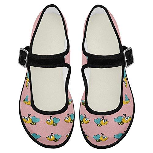 Interestprint Femmes Confort Mary Jane Appartements Casual Chaussures De Marche Multi 2