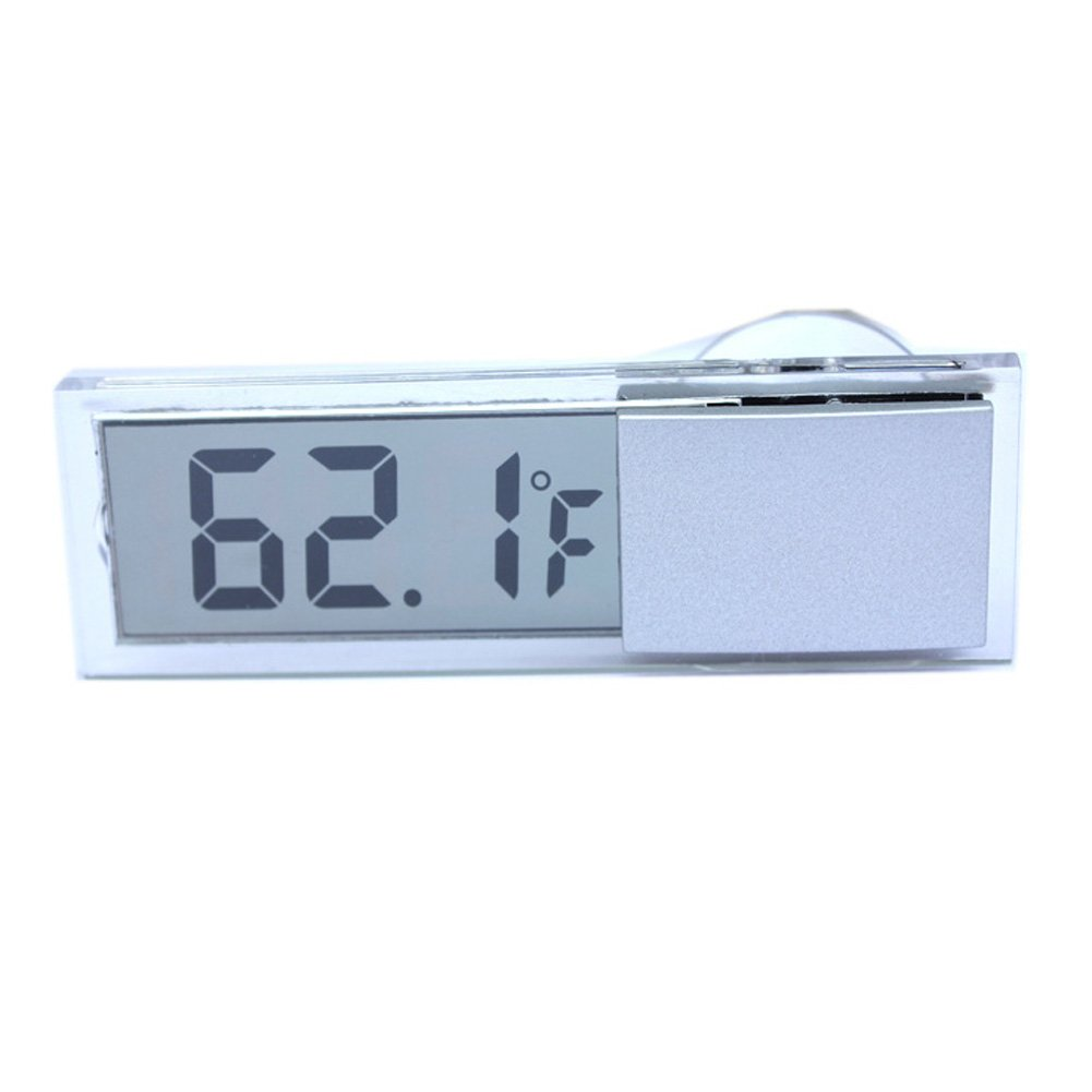 Demiawaking Nuovo LCD Termometro Digitale Auto con Ventosa Celsius Fahrenheit