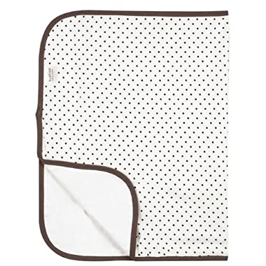 Kushies Deluxe Flannel Change Pad, White with Brown Dots