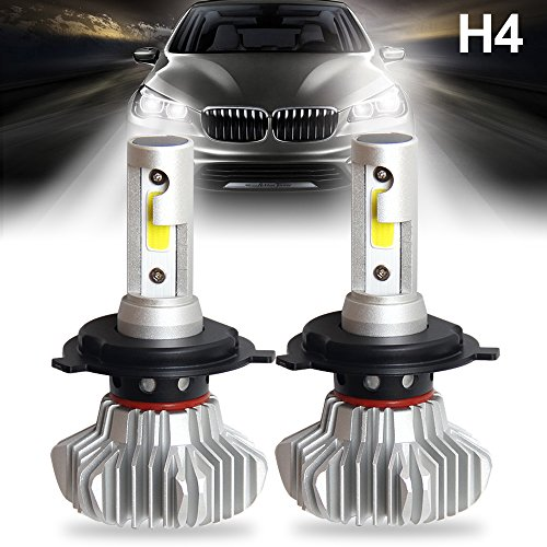LED Headlight Bulbs H4 9003 HB2 Car All-in-One Conversion Kit Super Bright...
