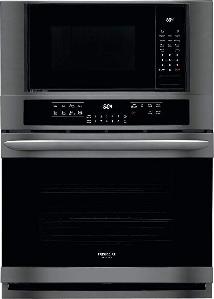 Frigidaire FGMC3066UD Gallery Series 30 Inch Electric Double Wall Oven/Microwave Combo Black Stainless Steel