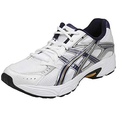 Asics Gel-Strike 2 Men's Sneakers Style# T9D4N-0150 (9.5 M US Mens, White/Navy/Gold)
