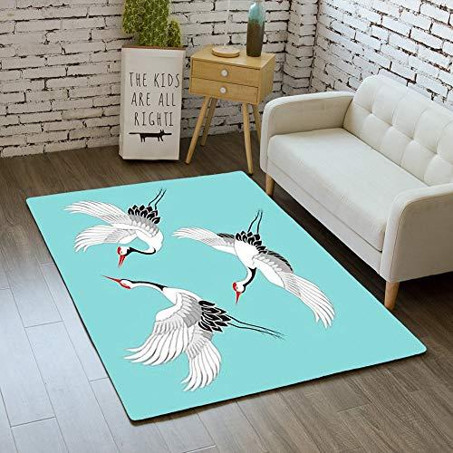 iBathRugs Door Mat Indoor Area Rugs Living Room Carpets Home Decor Rug Bedroom Floor Mats,Set Birds Crane Stork Heron ()