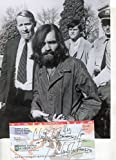 CHARLES MANSON / Manson Family rare twice signed personal check & photo - UACC RD # 212
