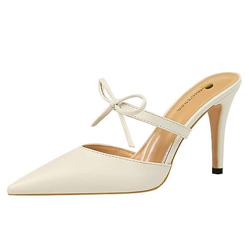 68af3a2e5 Zanpa Femmes Mode Stiletto Mules des Sandales Fermé Toe Slip on ...