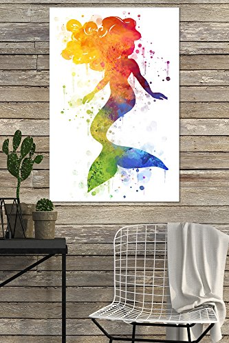 Amazon.com: Silhouette Mermaid - Rainbow (24x36 Acrylic Wall Art Gallery Quality): Arts, Crafts & Sewing