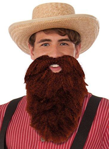 Forum Novelties Brown Beard and Moustache Combo Costume -