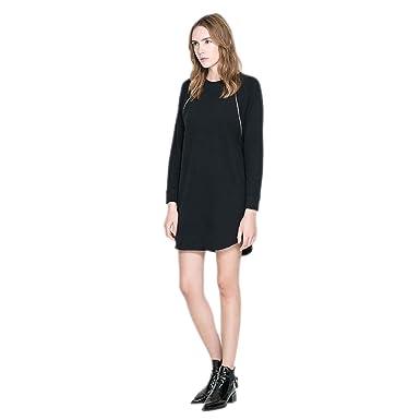 Weheart Womens Black Crew Neck Fine Knit Jumper Dress At Amazon