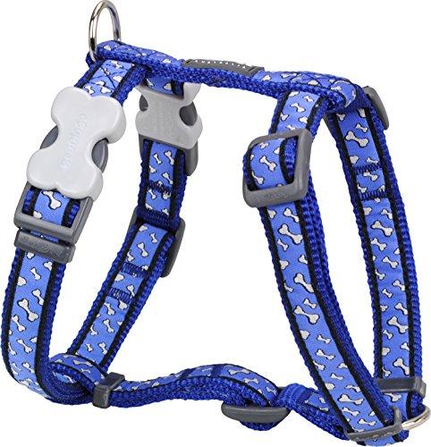Red Dingo Flying Bones Patterned Dog Harness, L, 25 mm/ 56 - 80 cm, 46 - 76 cm Neck Size