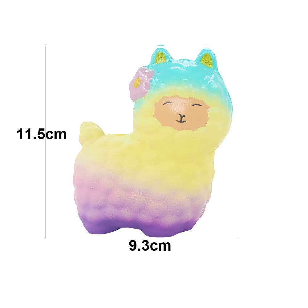 DIGOOD Squishy Squeeze Cute Sheep Alpaca Super Slow Rising Scented Fun Animal Toys