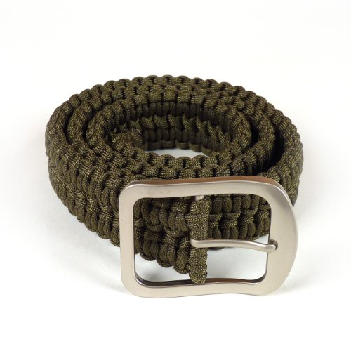 Stone River Gear Paracord Survival Belt, Green, Large by Stone River Gear