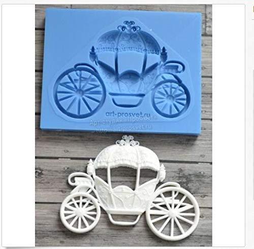Silicone Carriage Cinderella Float Car Wedding Fondant Cake Decoration Mold DIY Clay Chocolate Mold -