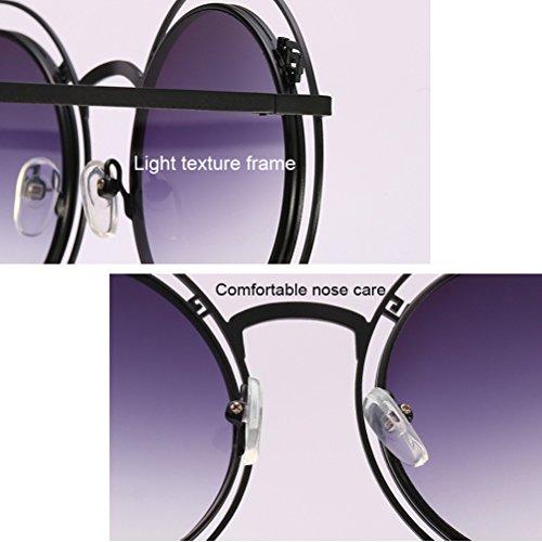 Géométrique Double de Géométrique Unisexe Gradient des Zhhlaixing de de Tea Couleur des Sunglasses Irrégulière pour Femmes Hommes Motif Soleil de Lunettes et 5W0Wqfv7Ow