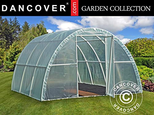 Dancover Polytunnel Greenhouse 3x3.6x1.9 m, 10,8², Transparent