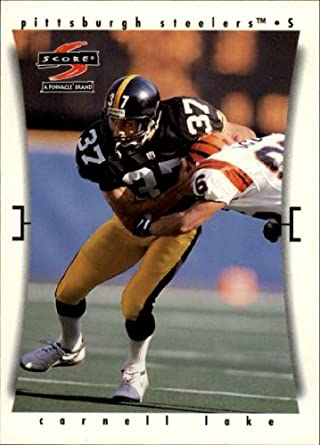 b9952ba64be Amazon.com  1997 Score Football Card  128 Carnell Lake Near Mint Mint   Collectibles   Fine Art