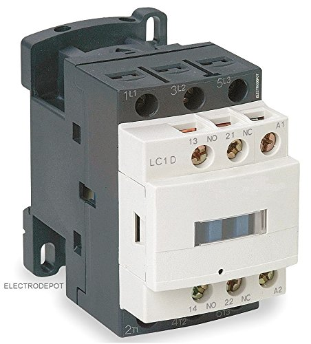 30AMP Contactor 32A AC3, 50A AC1, Coil 120VAC, 3 Pole 3phase, NC NO Aux IEC 30A (480v 3 Phase Power Switch)