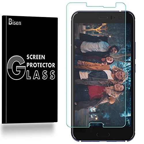 HTC U11 / U 11 Tempered Glass Screen Protector [3-Pack], BISEN Screen Protector HTC U11 / U 11, Anti-Scratch, Anti-Shock, Shatterproof, Lifetime Protection
